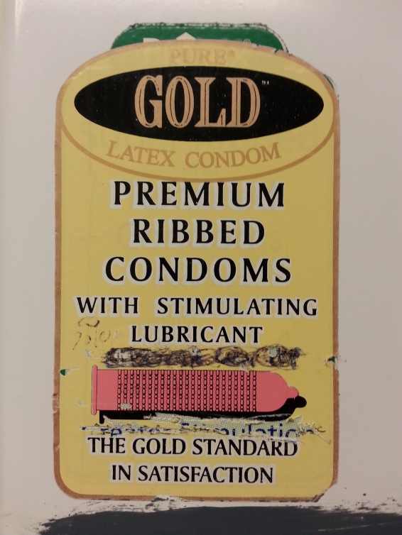 Of course sketchy gas station restrooms carry The Gold Standard in latex products.